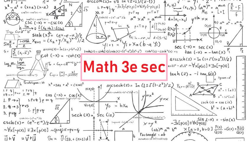 Mathématique secondaire 3 Claudia Perron